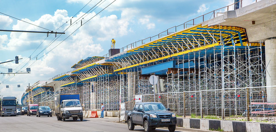 Overpass on the Yaroslavl highway