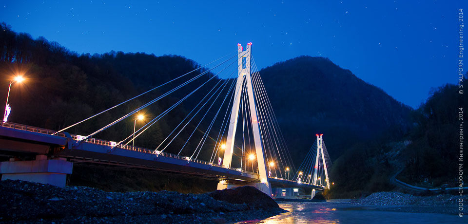 Cable-stayed bridge in Sochi