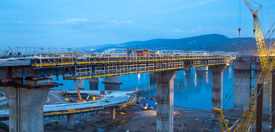 The fourth bridge across the Yenisei in Krasnoyarsk