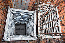 Formwork for elevator shafts